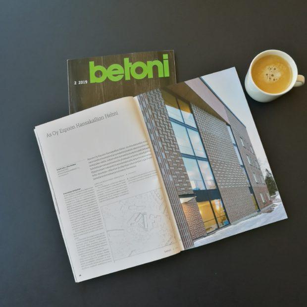 Hansakallion Helmi uudessa Betoni-lehdessä